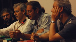Paolo Ciampi, Paolo Brovelli e Tiziano Fratus al Gabinetto Vieusseux