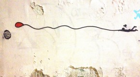 Passeggiata per muri d'arte – Clet, Blub, Exit Enter