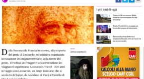 Firenze Today – Dalla Toscana alla Francia in scooter: un viaggio alla scoperta del genio di Leonardo
