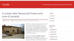 Nova radio – In scooter dalla Toscana alla Francia sulle orme di Leonardo