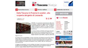 Toscana Notizie – Dalla Toscana in Francia in scooter, alla scoperta del genio di Leonardo