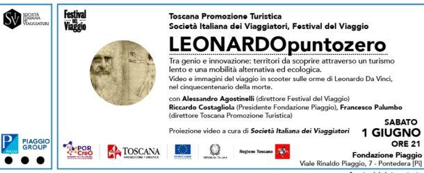 Leonardo in scooter al Museo Piaggio