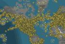 Crolla il traffico aereo